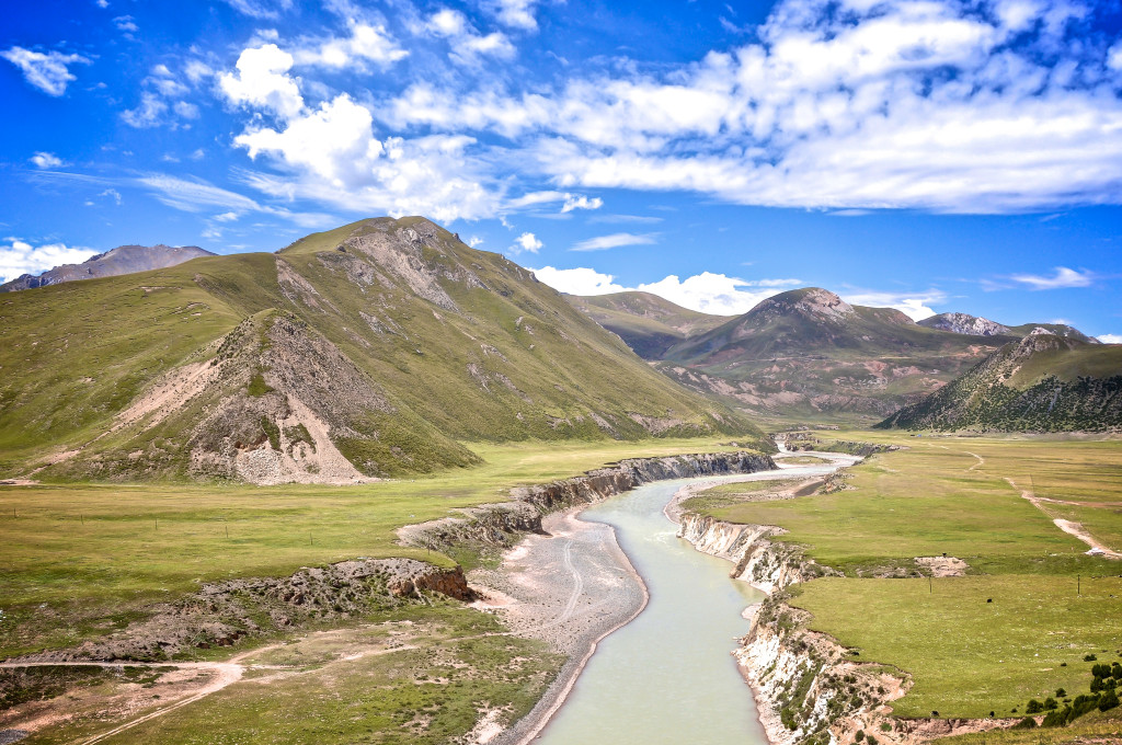 The upper Mekong River in eastern Tibet