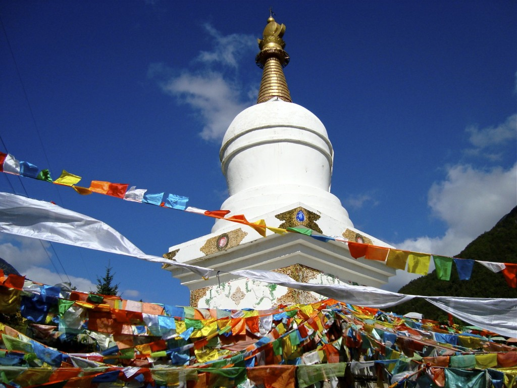 Stupa on top of Dentok Mountain (Paoma Shan), Kangding