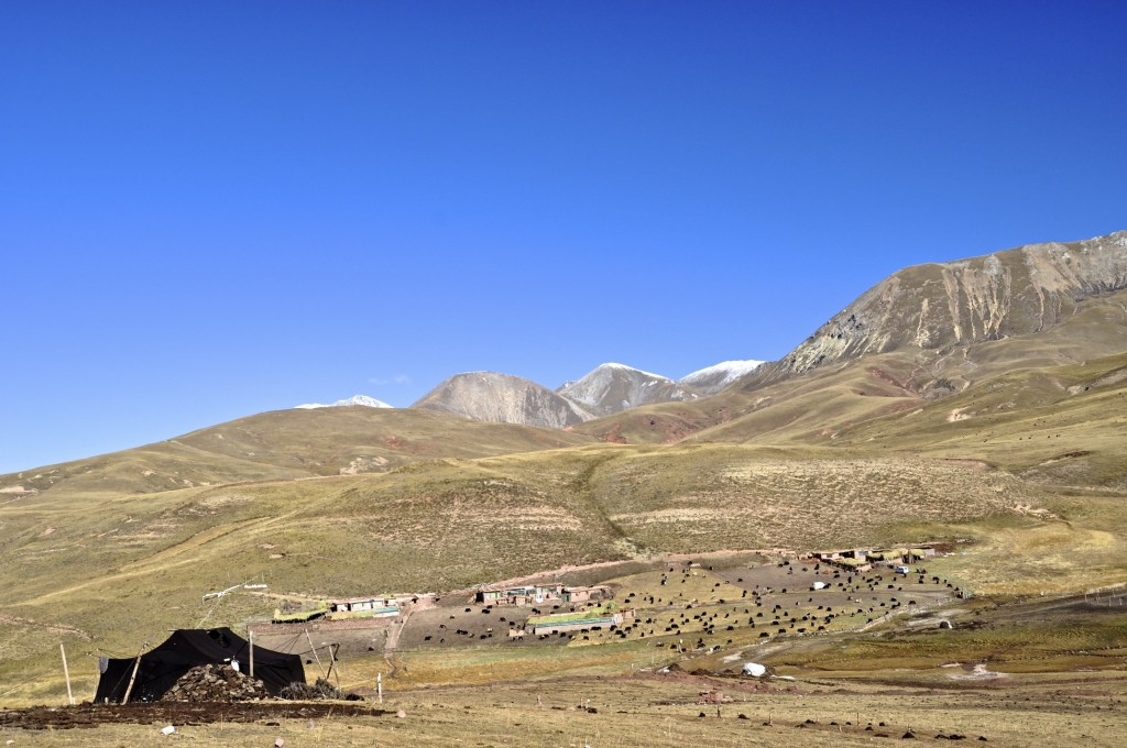 Nomad tent near Jichu ཅི་ཆུ་ in southwest Nangchen county