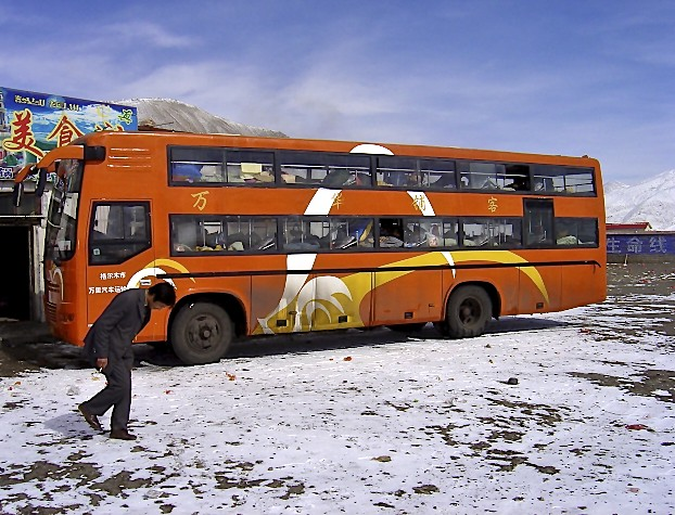 Sleeper bus in Kham, Tibet travel update