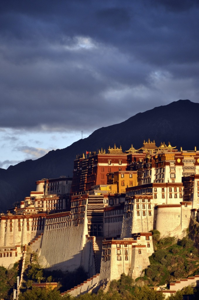 The sun rising over the Potala Palace