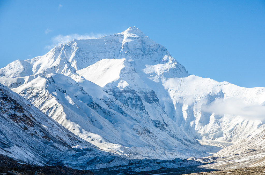 North Face Base Camp of Mt. Everest in Tibet