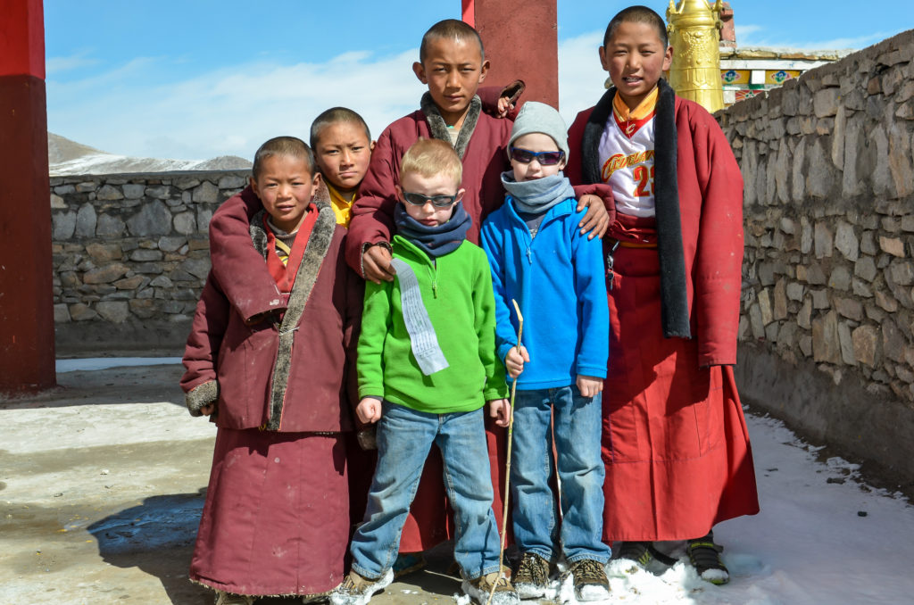 taking children to Tibet