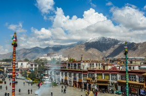 Barkhor Square in Lhasa