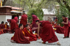 Monks at Sera Monastery
